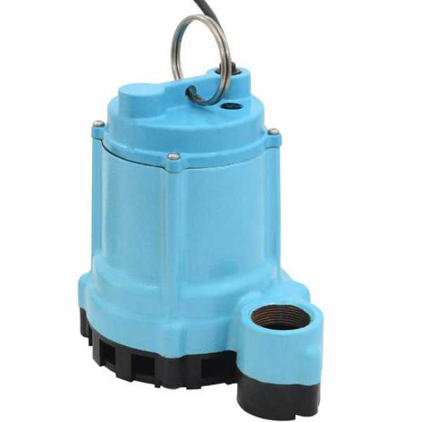 Manual Sump/Effluent Pump, 20' cord, 4/10HP, 115V