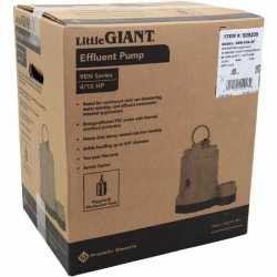 Automatic Sump/Effluent Pump w/ Piggyback Wide Angle Float Switch, 20' cord, 4/10HP, 115V