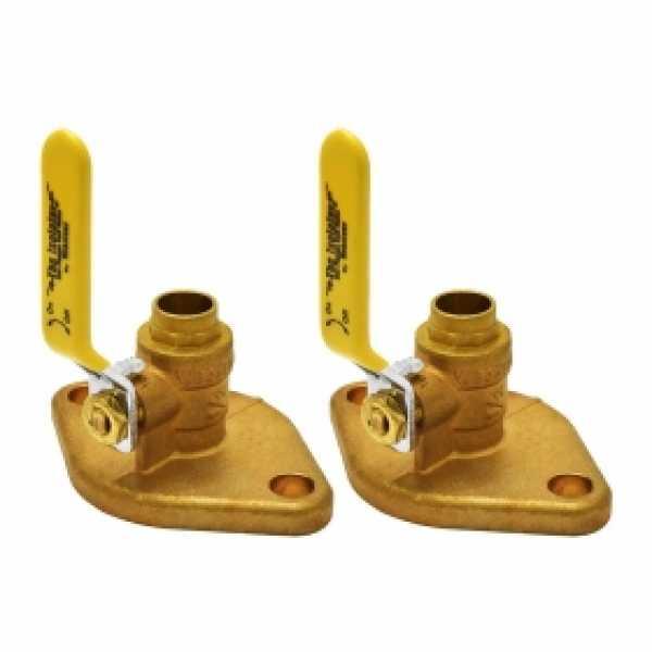"1/2"" Sweat Isolator Flange Valves (pair)"