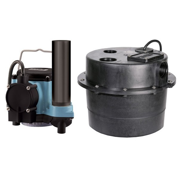 """Little Giant 506055 1/3 Hp Water Removal Diaphragm Switch Sump Packaged Systems, 9"""" Cord, 110v ~ 120v"""