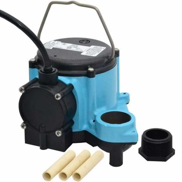 Automatic Sump Pump w/ Legs and Diaphragm Switch, 10' cord, 1/3HP, 115V