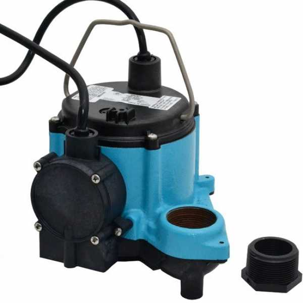 "Little Giant 506267 1/3 Hp Diaphragm Switch Sump Pump, 10"" Cord, 110v ~ 120v"