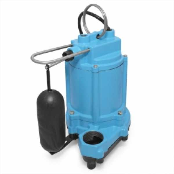 6EC-CIA-SFS Automatic Sump/Effluent Pump w/ Vertical Float Switch and 10' cord, 1/3 HP, 115V