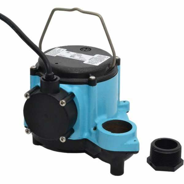 Manual Sump Pump w/ 10' cord, 4/10HP, 115V