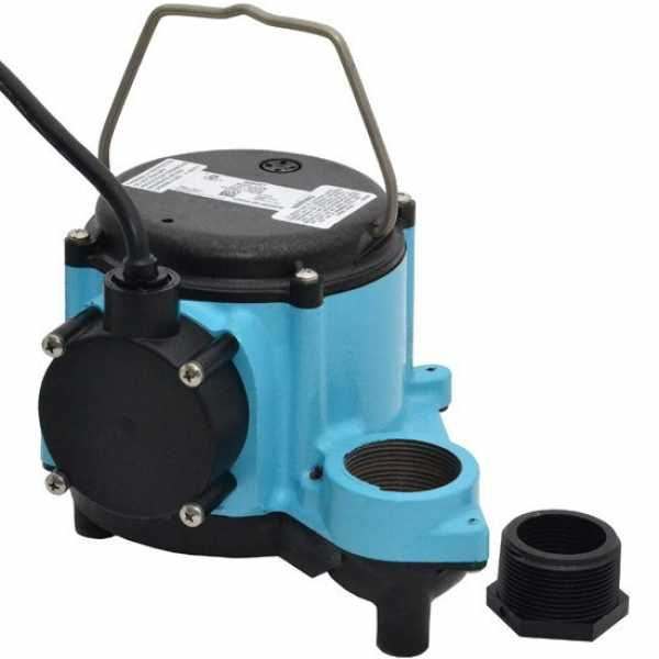 Manual Sump Pump, 25' cord, 4/10HP, 115V