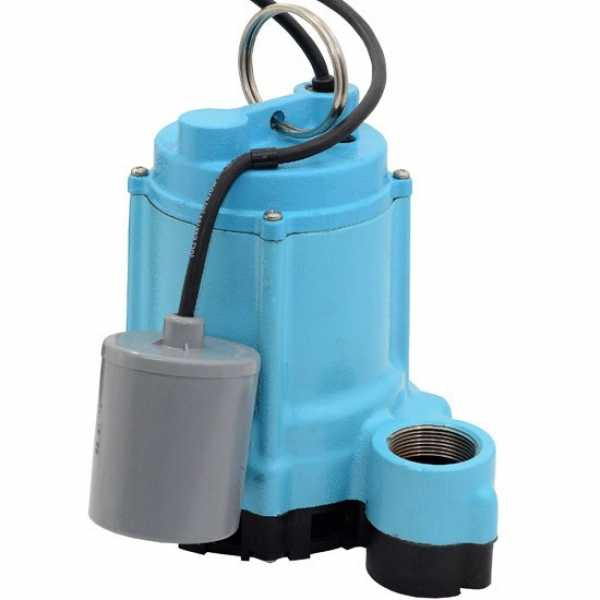 509209 Little Giant 9EN-CIA-RF, 4/10 Hp Sump/Effluent Pump, 20 Ft Cord, 115v, Wide Angle Float Switch