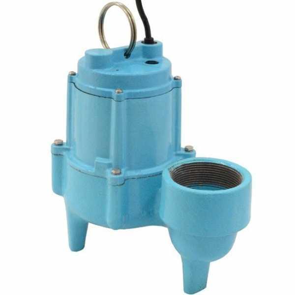 "Little Giant 509226 4/10 Hp Manual Sewage Pump, 20"" Cord, 110v ~ 120v"
