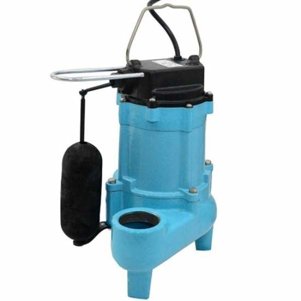 Automatic Sewage Pump w/ Vertical Float Switch, 20' cord, 4/10HP, 115V