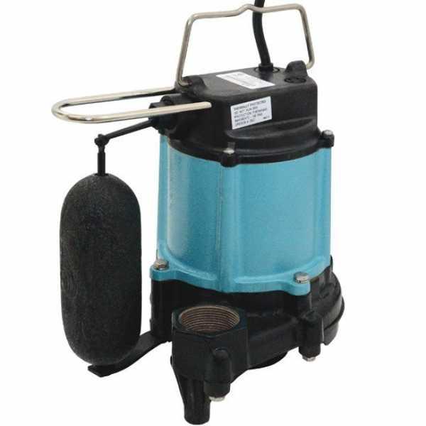 "Little Giant 511331 1/2 Hp Vertical Float Switch Sump Pump, 20"" Cord, 110v ~ 120v"