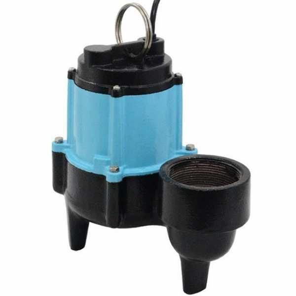 "Little Giant 511344 1/2 Hp Manual Sewage Pump, 20"" Cord, 110v ~ 120v"