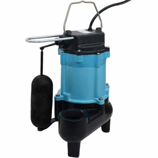 "Little Giant 511346 1/2 Hp Vertical Float Switch Sewage Pump, 20"" Cord, 110v ~ 120v"