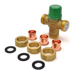 "1/2"" Union Sweat Mixing Valve (Lead-Free), ASSE 1070, 85-120F"