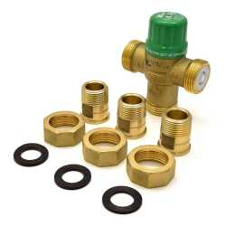"3/4"" Union Threaded Mixing Valve (Lead-Free), ASSE 1070, 85-120F"