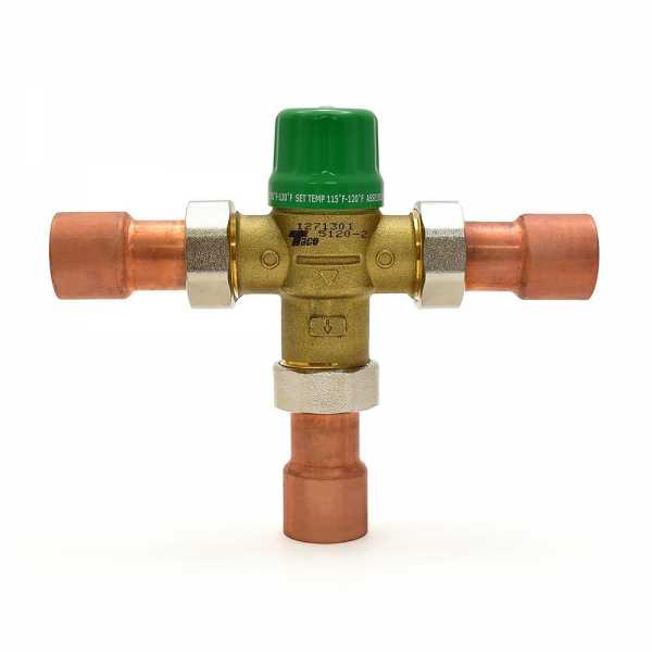 "1"" Union Sweat Mixing Valve (Lead-Free), ASSE 1070, 85-120F"