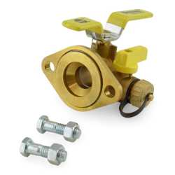 "1"" Sweat Isolator Flange Valve w/ Drain & Rotating Flange"