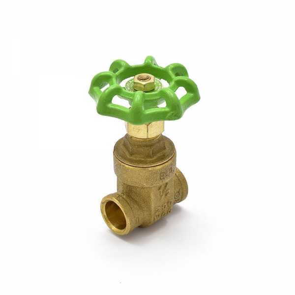"1/2"" Sweat (CxC) Gate Valve, Lead-Free"