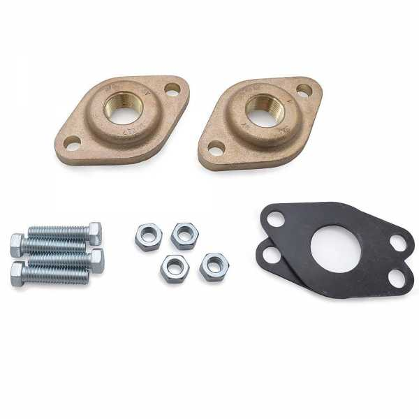 "519651 3/4"" NPT Bronze Grundfos Pump Flanges (pair) GF15/26"