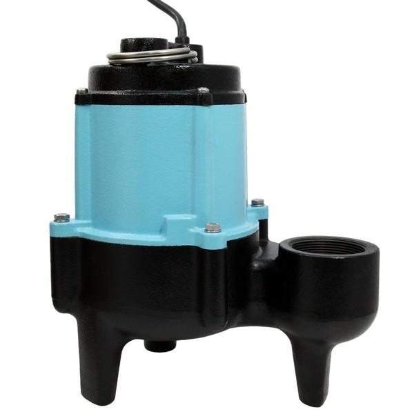 "Little Giant 511322 1/2 Hp Manual Sewage Pump, 20"" Cord, 110v ~ 120v"
