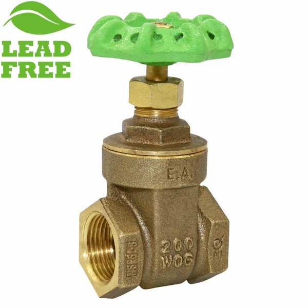 "1"" Threaded Gate Valve, Lead-Free"
