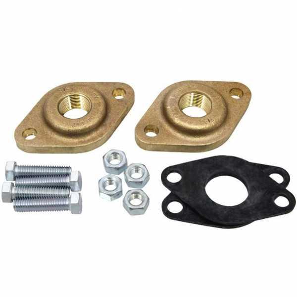 """519651 3/4"""" NPT Bronze Grundfos Pump Flanges (pair) GF15/26"""