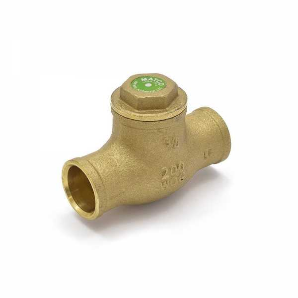 "3/4"" Sweat (CxC) Swing Check Valve (Lead-Free)"