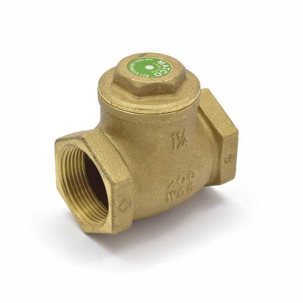 "1-1/4"" Threaded Swing Check Valve (Lead-Free)"