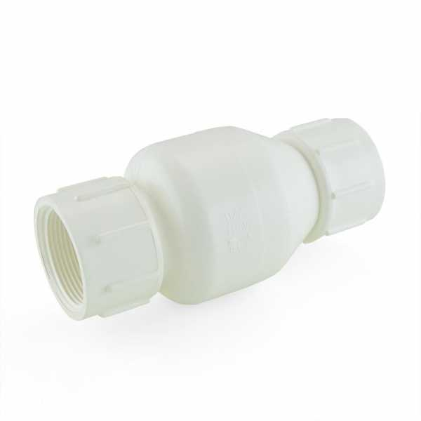 "1-1/2"" PVC Spring Check Valve, FPT Threaded, Sch. 40/80"