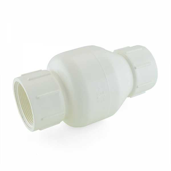"2"" PVC Spring Check Valve, FPT Threaded, Sch. 40/80"
