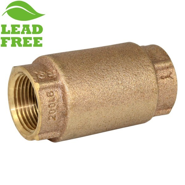 "Matco Norca 525T04LF 3/4"" Bronze In-line Check Valve, Spring Loaded, Lead Free"