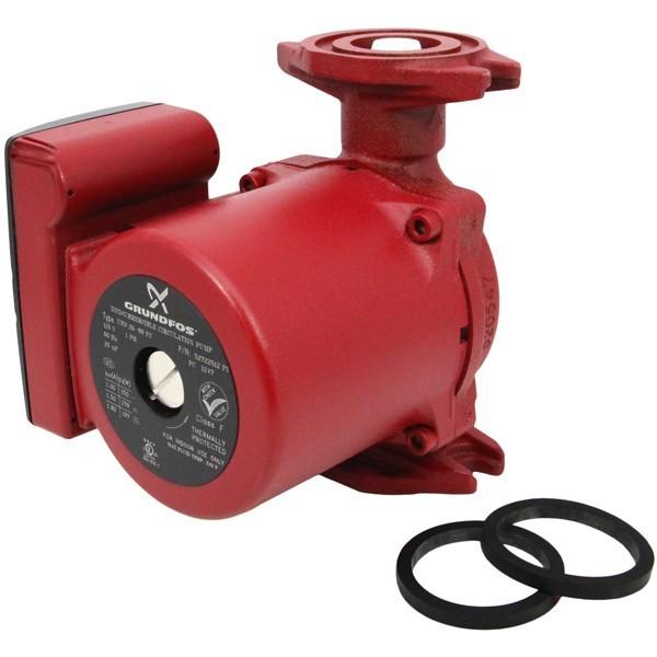 Grundfos 52722512 3-Speed Circulator Pump w/ IFC, 1/6HP, 115V