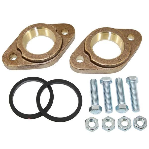 """539615 1-1/2"""" NPT Bronze Grundfos Pump Flanges (pair) GF40/43"""
