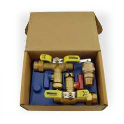 "3/4"" Sweat E-X-P Tankless Water Heater Service Valve Kit w/ Pressure Relief Valve, LF"