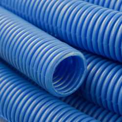 "Corrugated Sleeve for 1/2"" PEX, In-Slab Installation (Blue)"