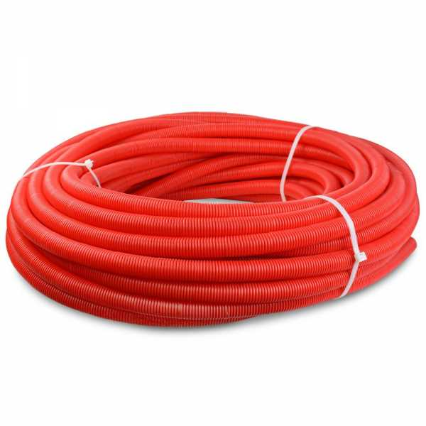 """Corrugated Sleeve for 1/2"""" PEX, In-Slab Installation (Red)"""