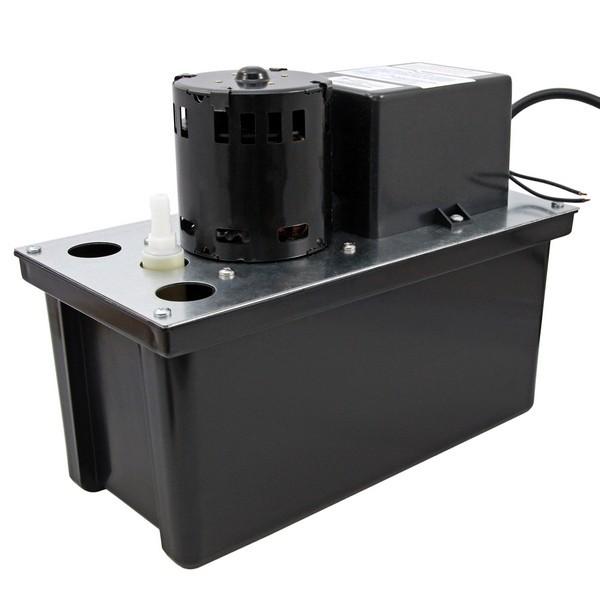 "Little Giant 553101 1 Gal Large Reservoir Float Switch Condensate Removal Pump, 6"" Cord, 110v ~ 120v"