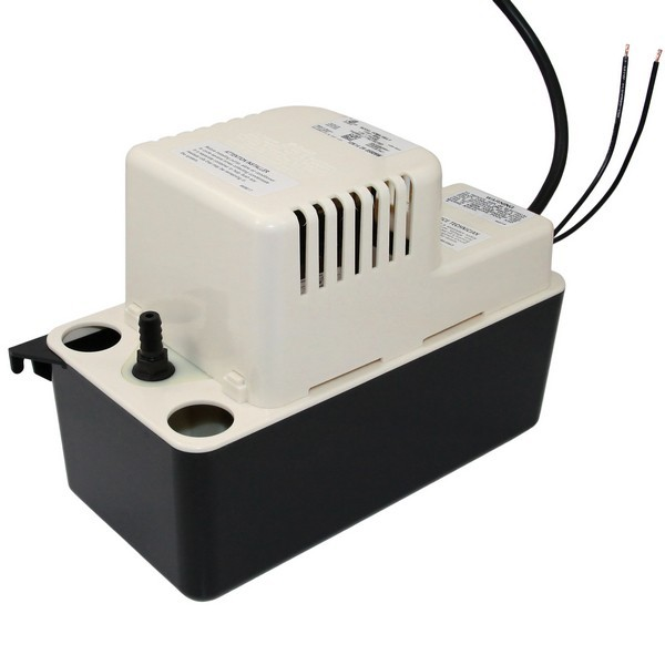 """Little Giant 554455 1/2 Gal Medium Reservoir Safety Switch Condensate Removal Pump, 6"""" Cord, 208v ~ 240v"""