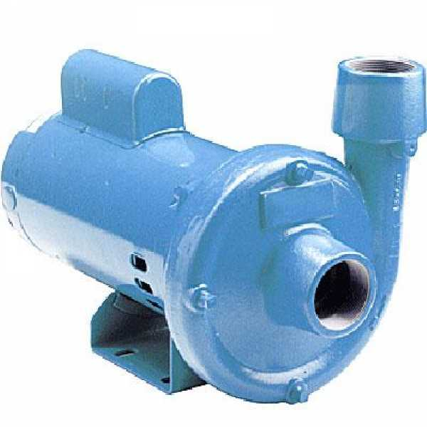 End Suction Centrifugal Pump, 1-1/2HP, Dual Voltage 115/230V, Cast Iron