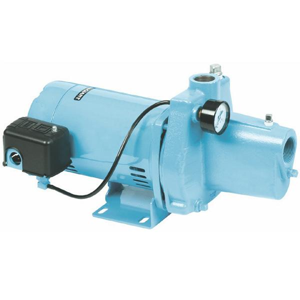 Shallow Well Jet Pump w/ Pressure Switch, 1/2HP, 115/230V, Cast Iron