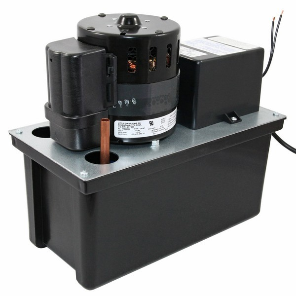 Little Giant 1 Gal Large Reservoir Float Switch Condensate Removal Pump 553245, 1.8 M Cord, 208v ~ 240v