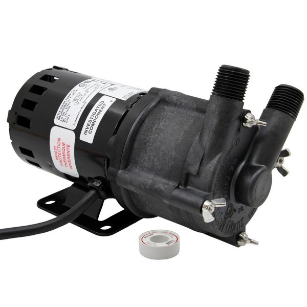 Magnetic Drive Pump for Highly Corrosive, 1/25HP, 115V
