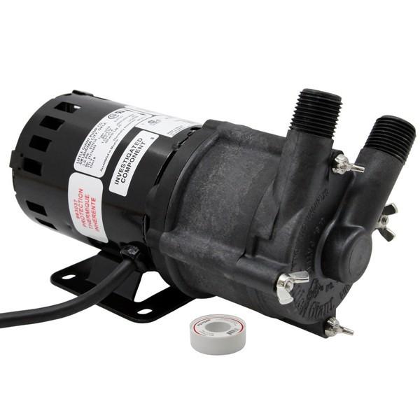 "Little Giant 578603 1/25 Hp Highly Corrosive Handling Manual Magnetic Drive Pump, 6"" Cord, 110v ~ 120v"