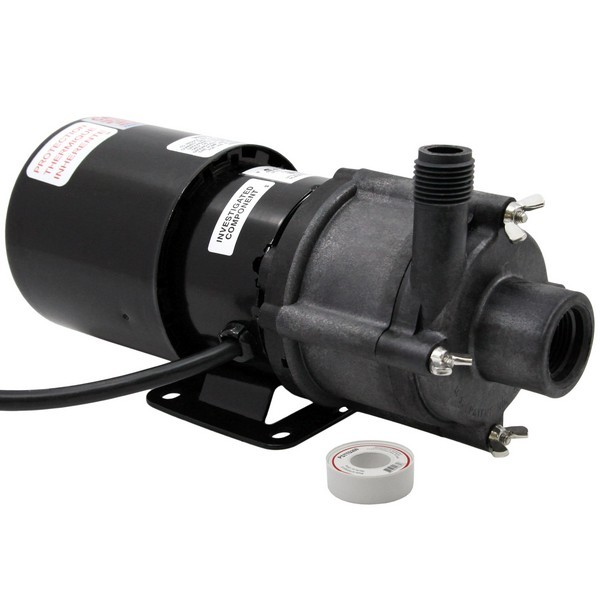 "Little Giant 581603 1/12 Hp Highly Corrosive Handling Manual Magnetic Drive Pump, 6"" Cord, 110v ~ 120v"