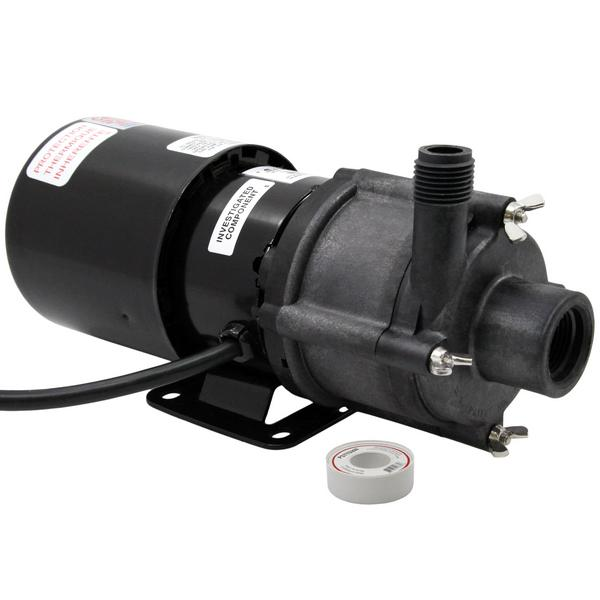 Magnetic Drive Pump for Highly Corrosive, 1/12HP, 115V