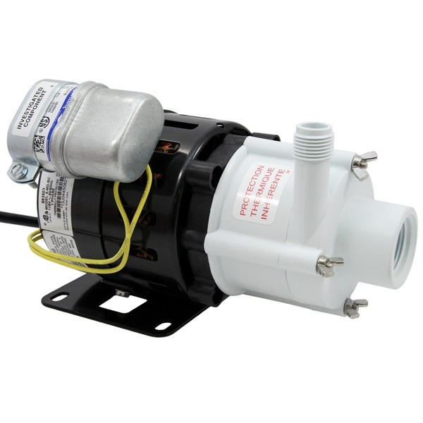 "Little Giant 583503 1/8 Hp Semi Corrosive Handling Manual Magnetic Drive Pump, 6"" Cord, 110v ~ 120v"