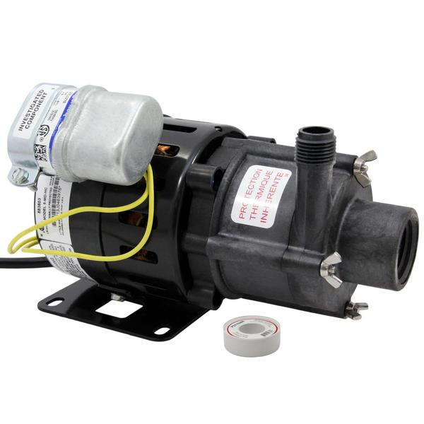 Magnetic Drive Pump for Highly Corrosive, 1/8HP, 115V