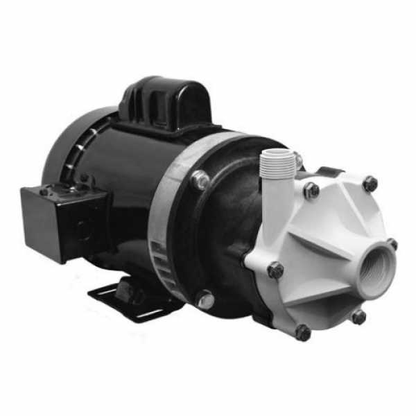 Magnetic Drive Pump for Semi-Corrosive, 1/2HP, 115/230V, 1-Phase