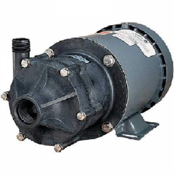 Magnetic Drive Pump for Highly Corrosive, 1/2HP, 115/230V, 1-Phase