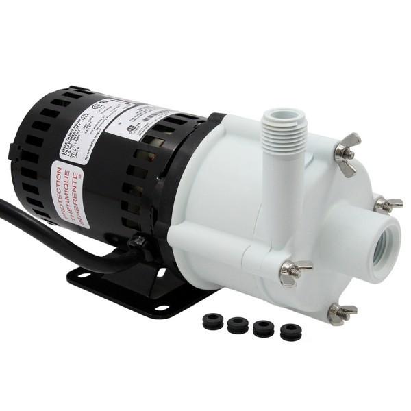 "Little Giant 580503 1/25 Hp Semi Corrosive Handling Manual Magnetic Drive Pump, 6"" Cord, 110v ~ 120v"
