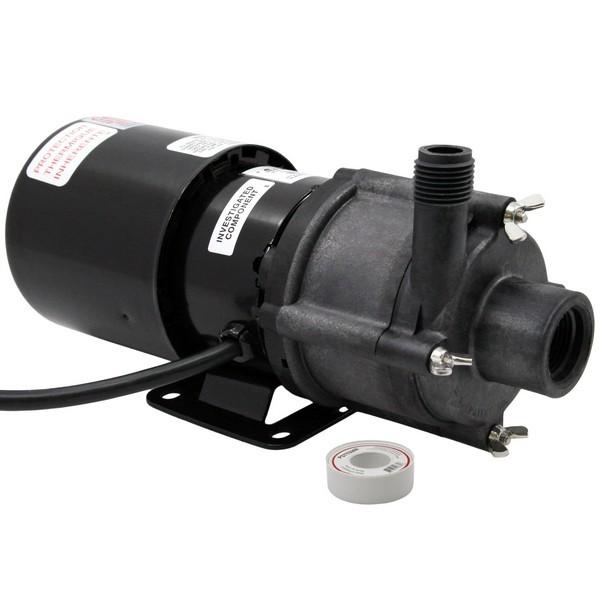 "Little Giant 581603 1/12 Hp Highly Corrosive Handling Manual Magnetic Drive Pump, 6"" Cord, 110v ~ 120v"