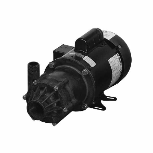 Magnetic Drive Pump for Highly Corrosive, 3/4HP, 115/230V, 1-Phase